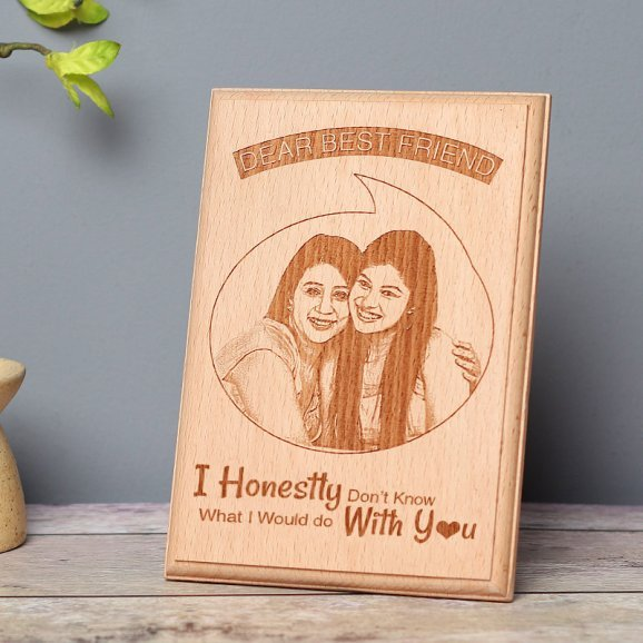 Personalised Wooden Frame for Best Friend