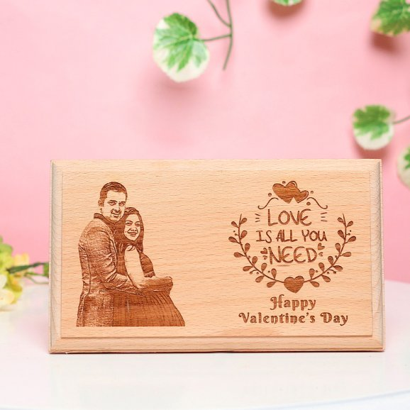 Valentines Day Personalised Wooden Frame