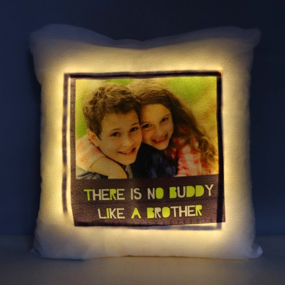 Personalised LED Cushion for Brother