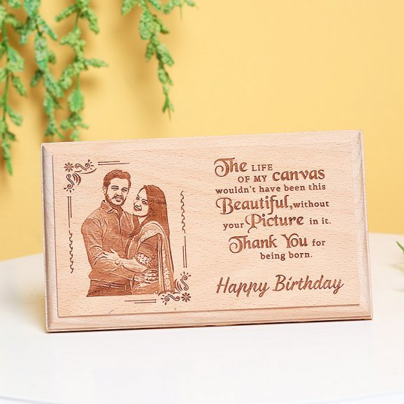 Personalised Birthday Wooden Frame for Lover