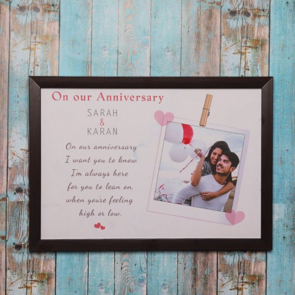 Personalised Anniversary Wall Photo Frame
