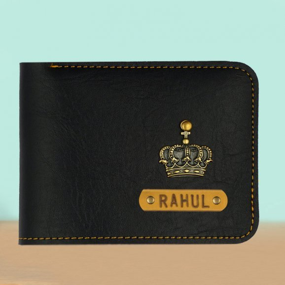 Glamorous Personalized Black Wallet