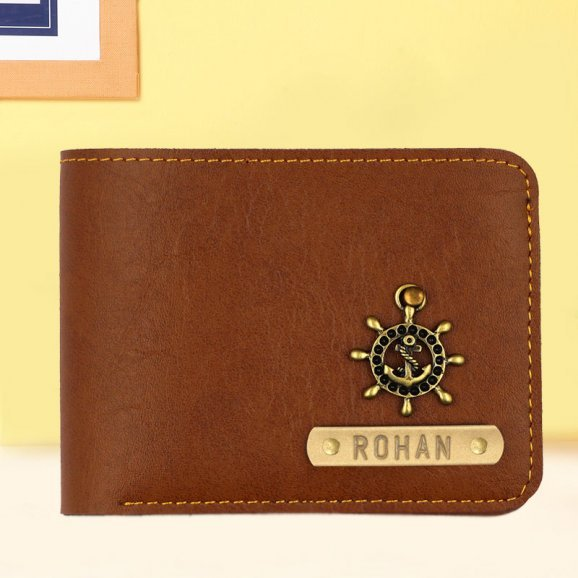 Gorgeous Personalized Fathers day Brown Wallet