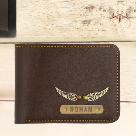 Personalized Dark Brown Wallet for Men