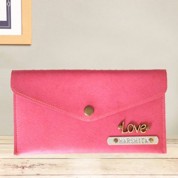 Beautiful Pink Personalized Wallet