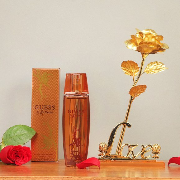 Combo of Guess Marciano Perfume and Golden Rose