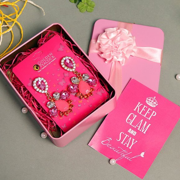 Pretty Perfect - Set of Pink Earrings