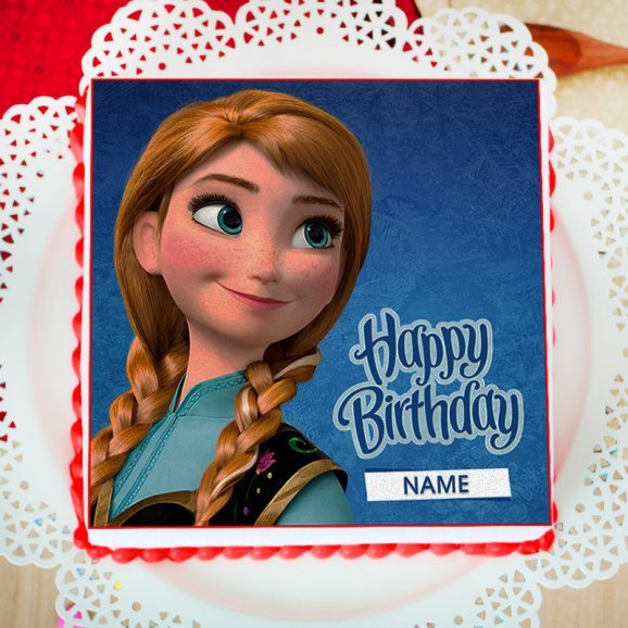 Princess Anna Photo Cake For Girls