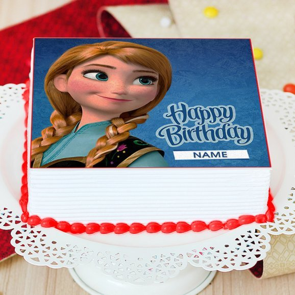 Princess Anna Photo Cake - Zoom View
