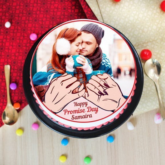 Promise day special photo cake