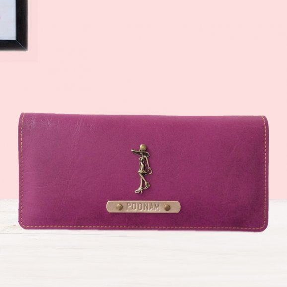 Personalised Purple Womens Wallet