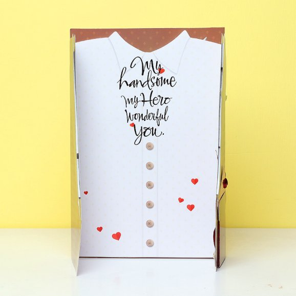 Love Card for Your Guy in Opened View