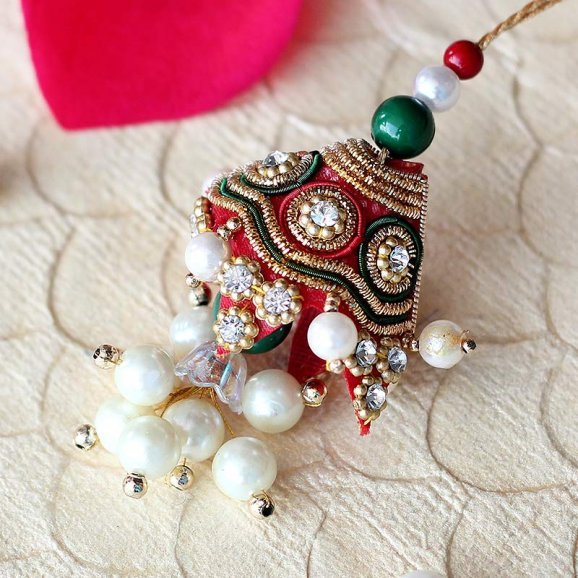 Rajasthani Authentic Lumba Rakhi for bhabhi