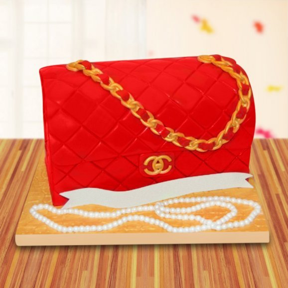 Chanel red theme cake