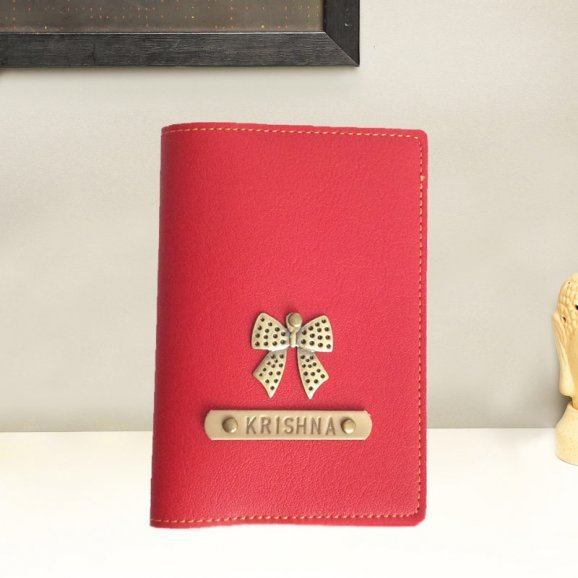 Red Personalised Passport Cover