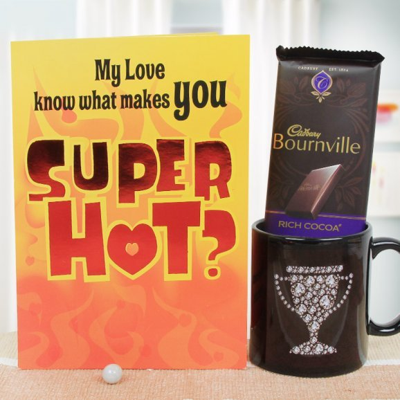A Lovely Combo of Card and a Mug with a Cadbury Bournville