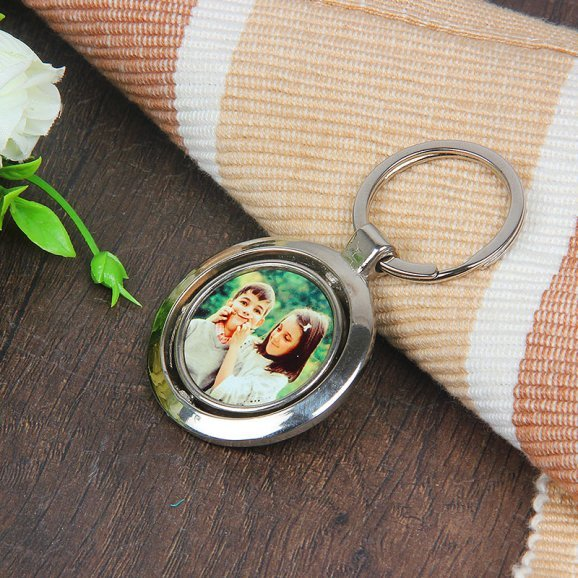 Keyring for Brother and Sister with Front Sided View