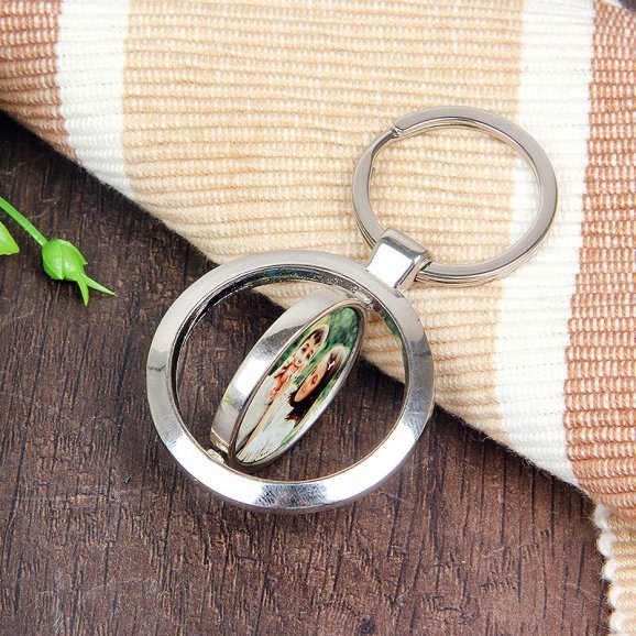 Keyring for Brother and Sister with Oblique View