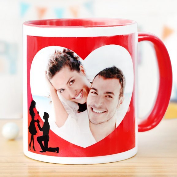 Say Yes Personalised Mug with Front Sided View