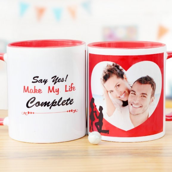 Say Yes Personalised Mug with Both Sided View