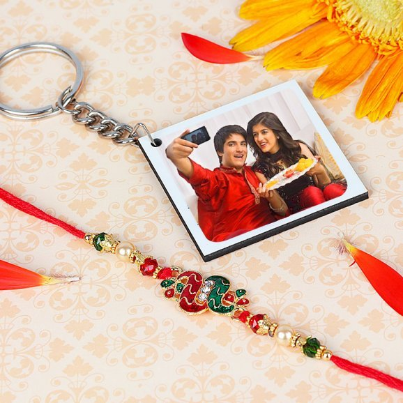 Customised Keychain with Rakhi