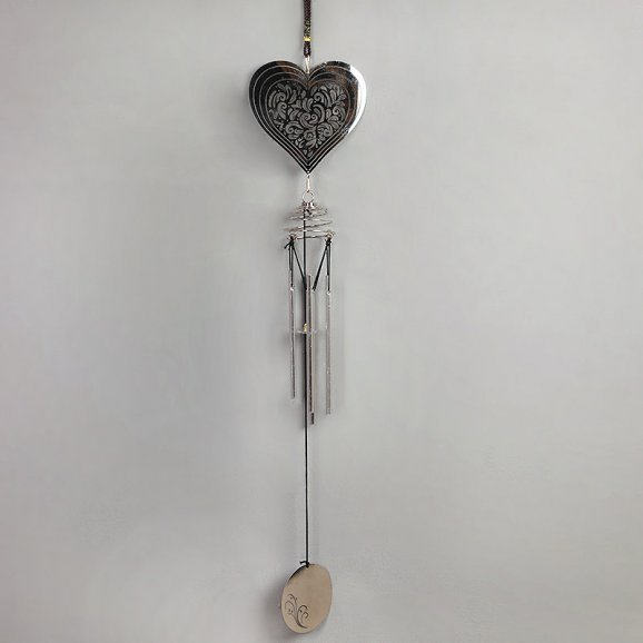 Love Silver Plated Wind Chime