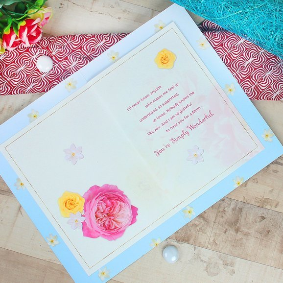 Mothers Day Greeting Card with Opened View