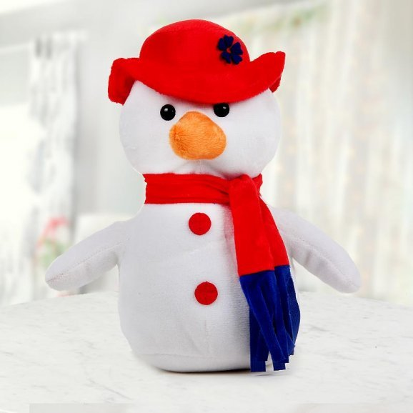 Adorably cute 8 inches Snowman with wide open arms