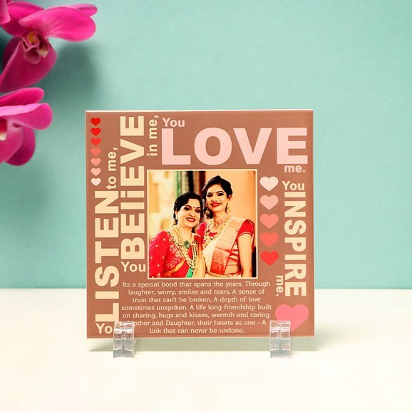 Front Side of Personalised Photo Frame