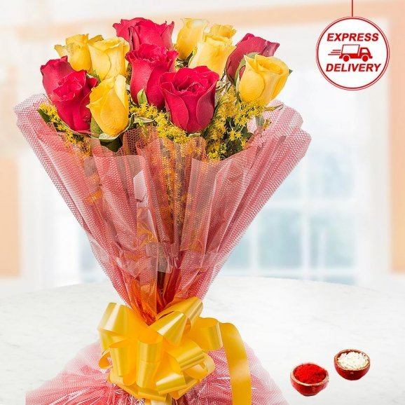 Special Flower Bunch for Brother on bhai dooj