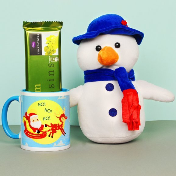 Christmas Combo of Snowmen with Mug and Chocolates