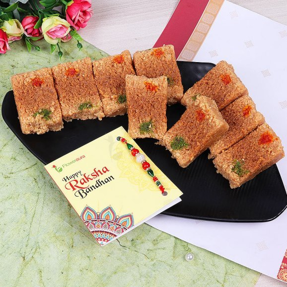 Rakhi with Half Kg Milk Cake