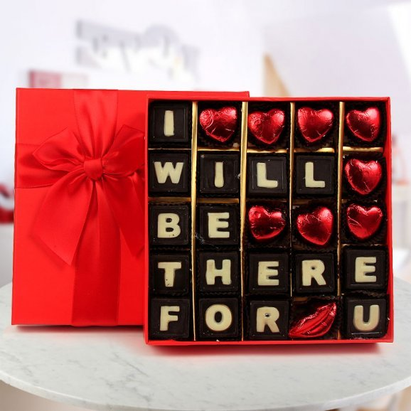 A Beautiful box of chocolate carries message I Will Be There For You