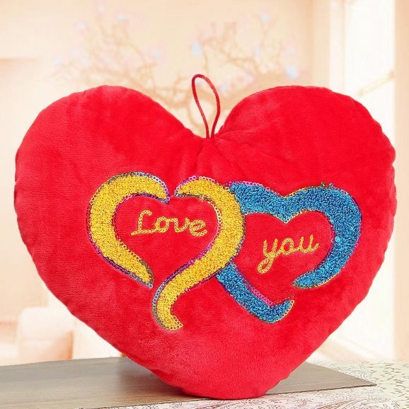 Red Double Heart Cushion