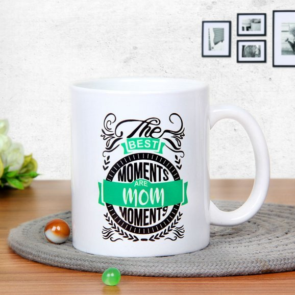 The Mom Moments Mug with Front Sided View