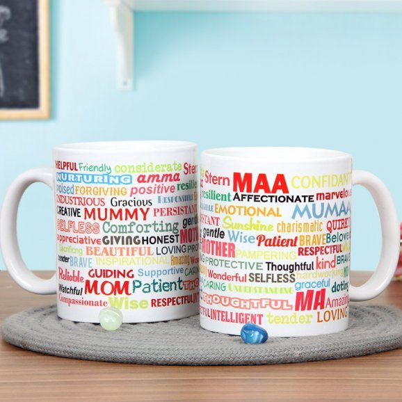 Mug for Mother with Admiring Words