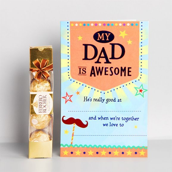 Chocolate and Greeting Card Combo for Dad