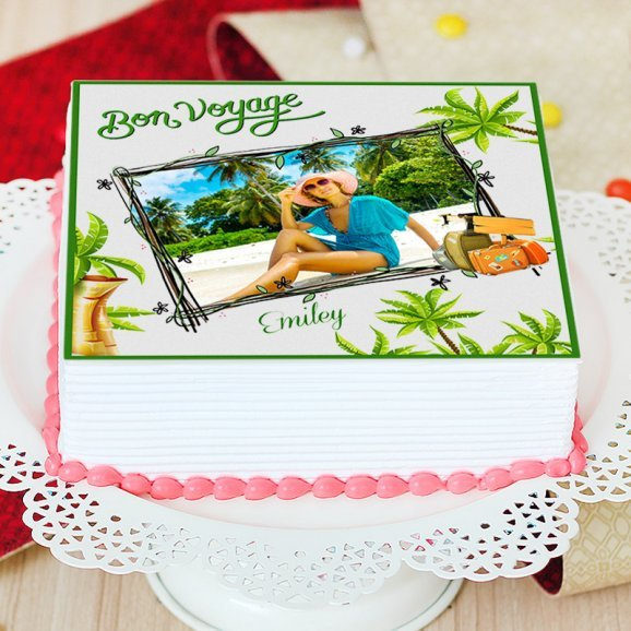 Traveling Soul Photo Cake - Zoom View