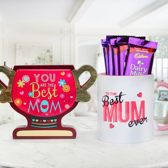 trophy for best mom - A combo gift for Mother