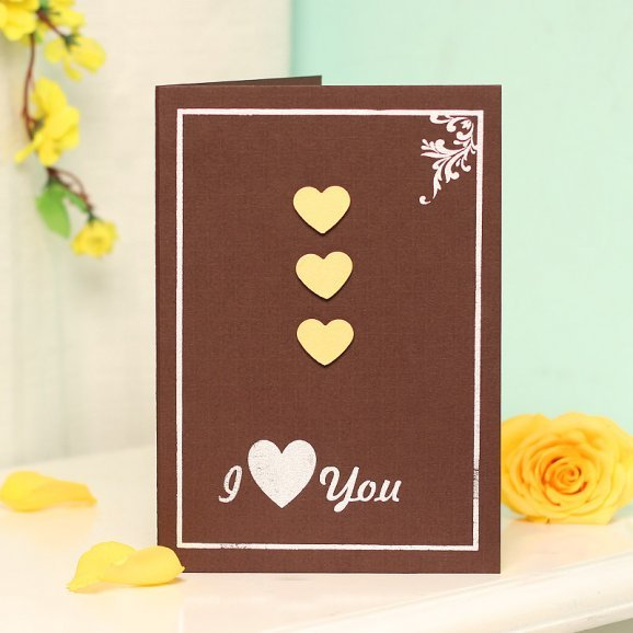 I Love You 3D Greeting Card