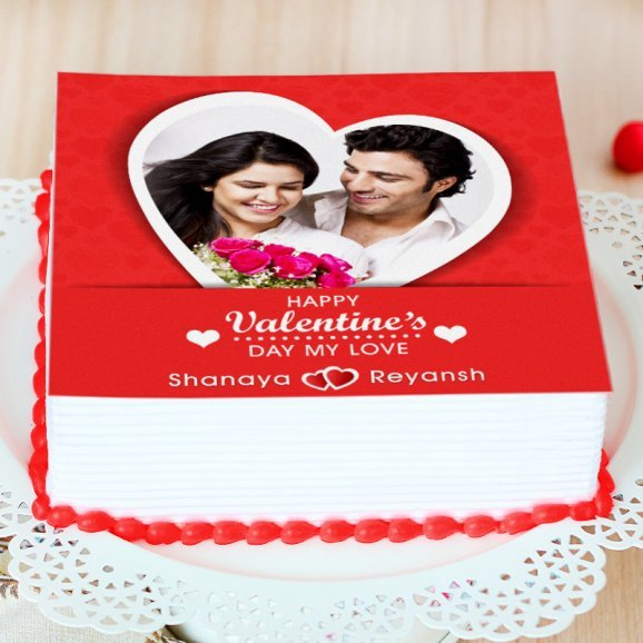 Couples Photo Cake