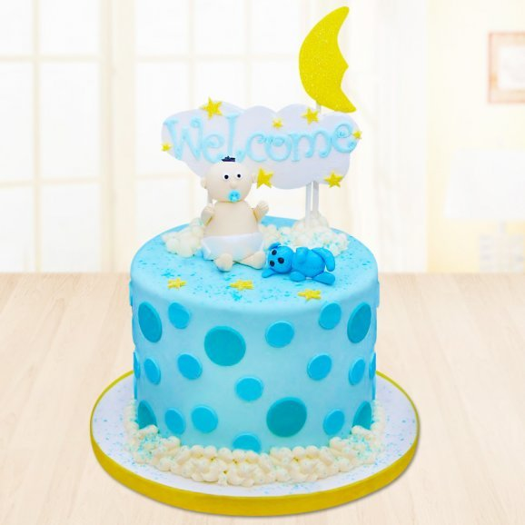 Welcome baby fondant cake