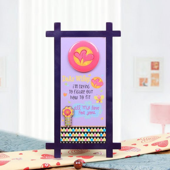 Dear Wifey Quotation Table Stand