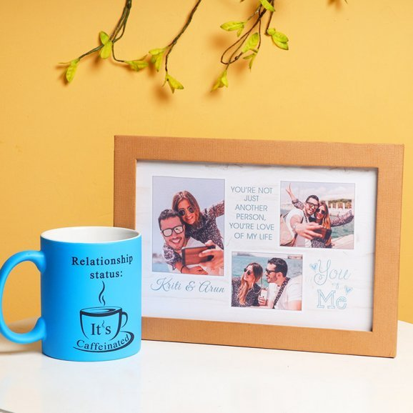 Personalised Photo Frame with Personalised Mug Combo