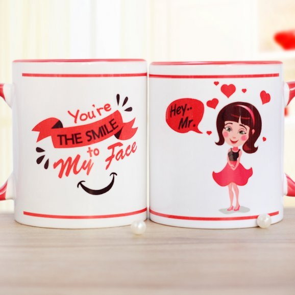 You Bring Me Smile Printed Mug with Both Sided View