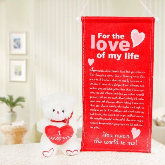 A love letter and a teddy combo