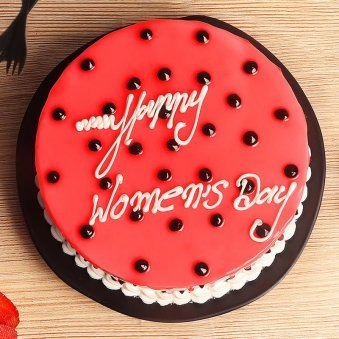women day strawberry cake
