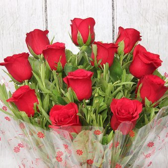 Bunch of 20 Red Roses with Zoomed View