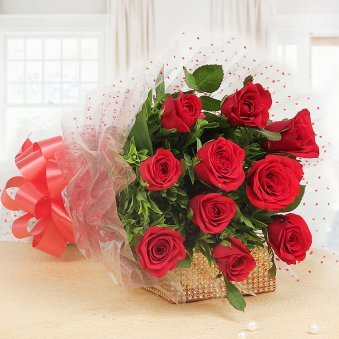 Bunch of 10 Red Roses