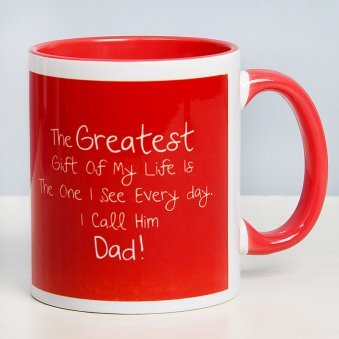 Fathers Day Mug with Front Side View